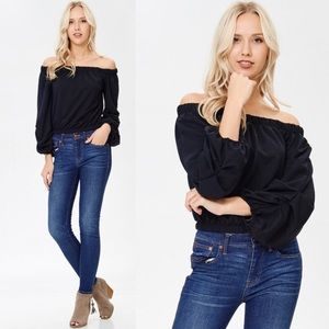 Tops - NEW ARRIVAL! Black off the shoulder top